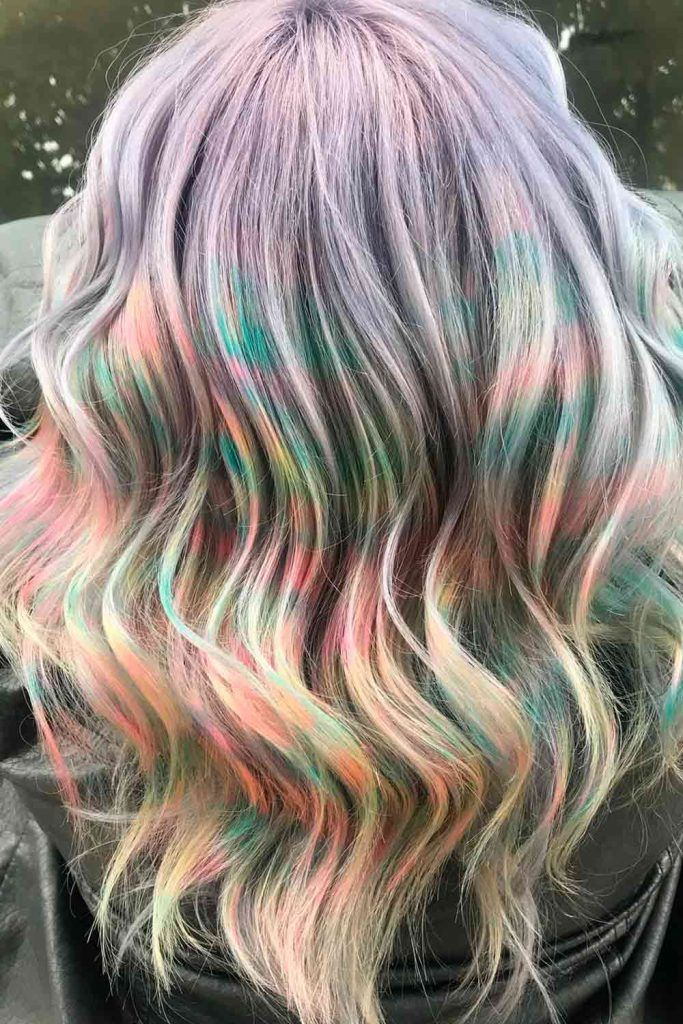 Marbling Unicorn Hair