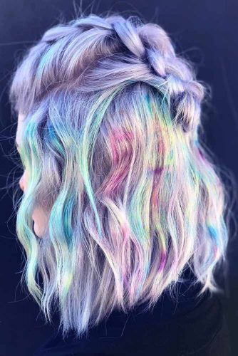 Marbling Unicorn Hair #unicornhair