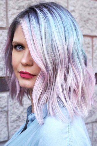 Pastel Unicorn Blue To Pink #unicornhair