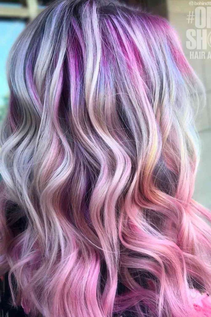 Purple Roots With Pink Hair