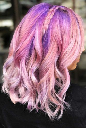 Purple Roots With Pink #unicornhair