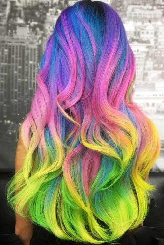 Rainbow Unicorn #unicornhair #rainbowhair