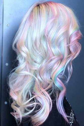 Soft Serve Sherbet #unicornhair #blondehair