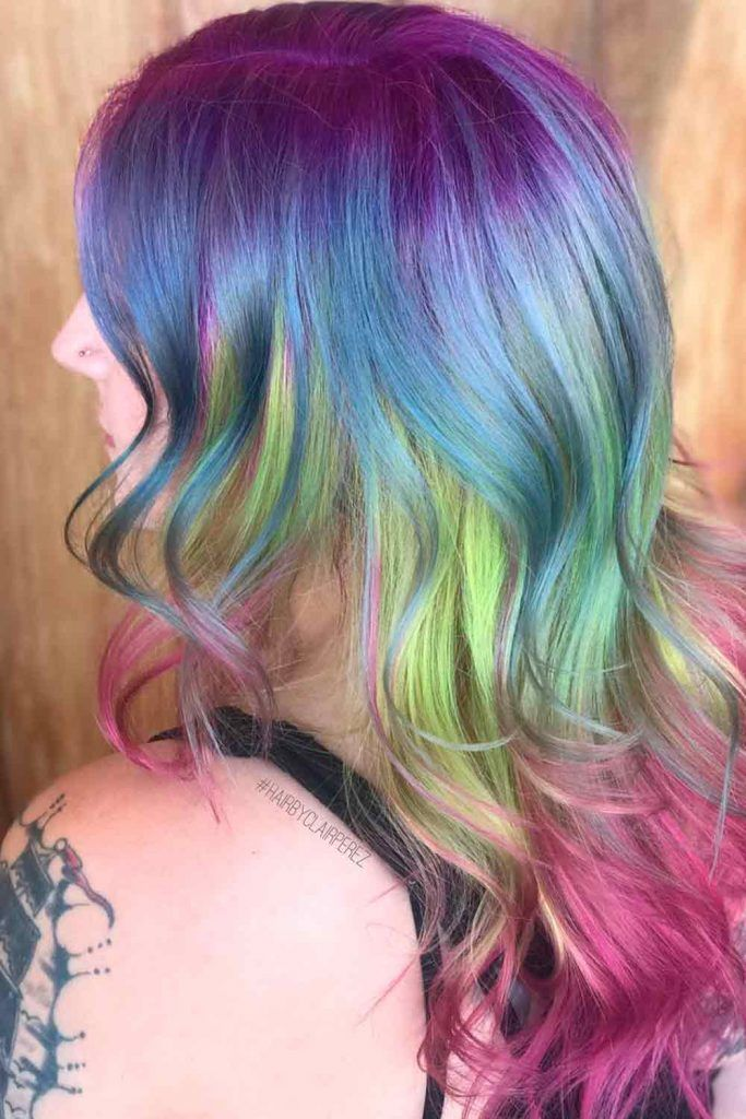 Triple Unicorn Ombre