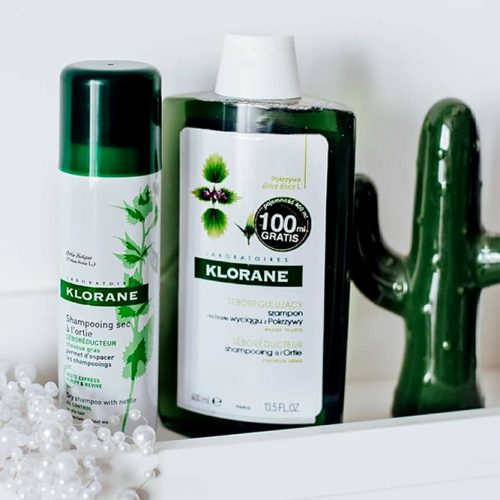 Klorane Shampoo With Nettle Extract For Thin & Oily Hair #shampoo #shampooforoilyhair #hairtype