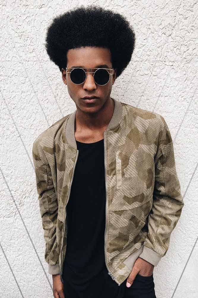 Afro Style #afrohair #taperhaircut #africanamericanhairstyles