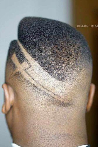 Angular High Top Hard Part Design #blackmenhairstyles #blackmenhaircuts