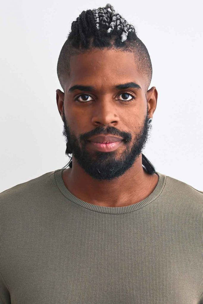 Braided Black Men Cuts + Undercut #blackmenhairstyles