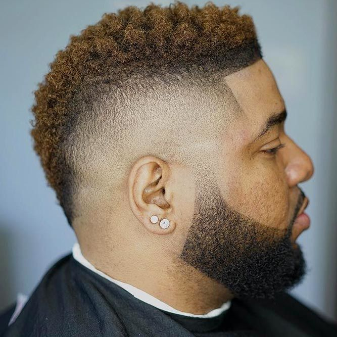 Short Mohawk #blackmenhairstyles #blackmenhaircuts
