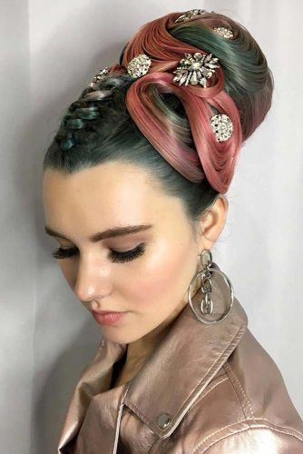 Glam High Upstyle With Accessories #fingerwaves #hairstyles #longhair #updohairstyle