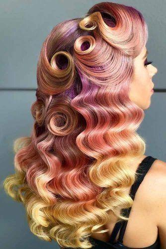 Long Luscious Retro Waves #fingerwaves #hairstyles #longhair