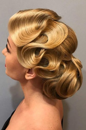 Low Bun With Side Finger Wave #fingerwaves #hairstyles #longhair #updohairstyle