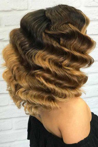 Finger Waves For Medium Hair #fingerwaves #hairstyles #mediumhair #lobhaircut
