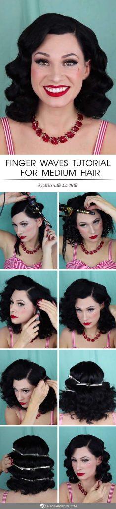 Finger Waves Tutorial For Medium Hair #fingerwaves #hairstyles #mediumhair #tutorial