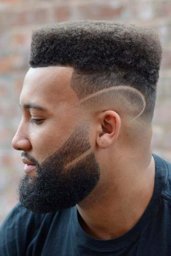 Flat Top Haircut With Shaved Design #shavedsides #hairdesign #shaveddesign #menshaircuts #flattop