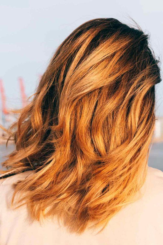 Honey Ombre Over Brownish Base