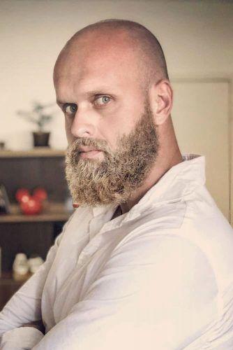 Buzz Head And Beard #baldhead #fullbeard #vikinghairstyles #vikinghair