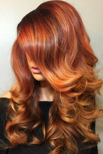 Auburn Red Highlights #redhair #highlights