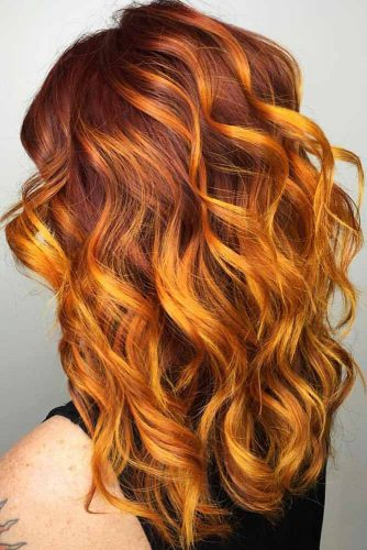 Coppery Red Highlights #redhair #highlights