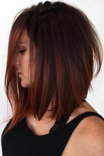 Dark Copper Lowlights #brunette #redhair #highlights