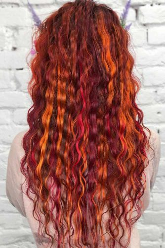 Multidimensional Red Highlights #redhair #purplehair #highlights