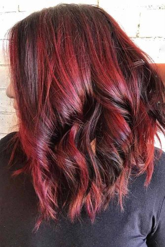 Red Wine Highlights #redhair #brunette #highlights