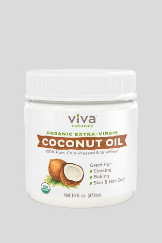 Viva Naturals Organic Extra Virgin Coconut Oil #3chair #curlyhair #hairtypes #hairproducts
