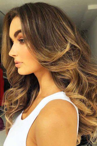 Brunette With Honey Gold Vibes #brownhair #blondehair #brunette