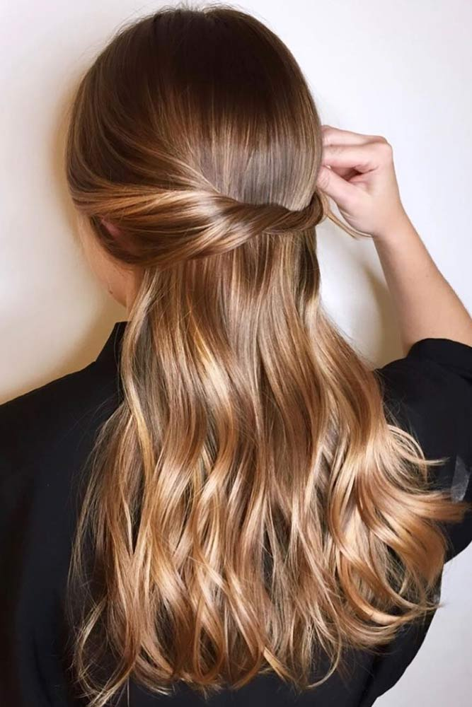 Lighten Gold Balayage #brownhair #goldenbrownhair