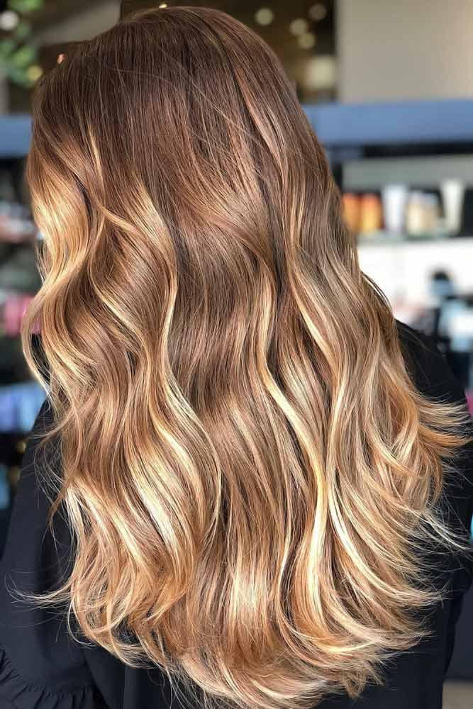 Golden Brown Partial Highlights #highlights #brownhair #goldenbrownhair