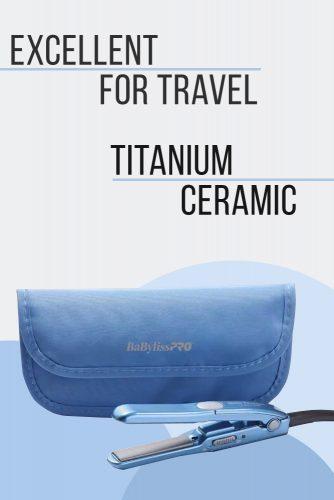 BaBylissPRO Nano Titanium Mini Straightening Iron #hairstraightener #hairtreatments