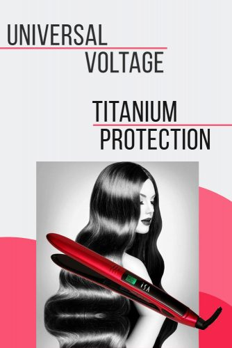 ISA Professional Titanium Flat Iron #hairstraightener #hairtreatments