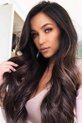 Brunette Ashy Lowlights #lowlights #highlights #brunette