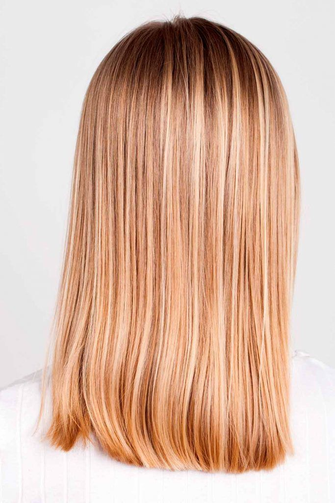 Blonde Hair With Golden Brown Lowlights