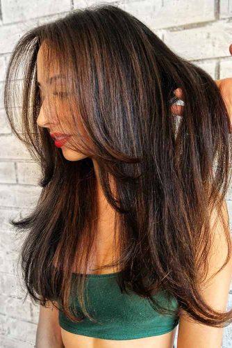 Hazelnut Lowlights #lowlights #brunette #brownhair