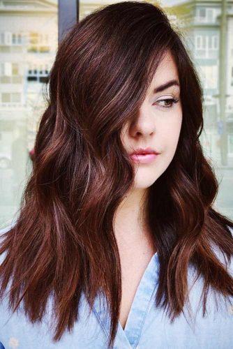 Reddish Mahogany Lowlights #lowlights #brunette #redhair