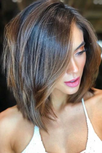 Subtle Framing Lowlights #lowlights #brunette #highlights