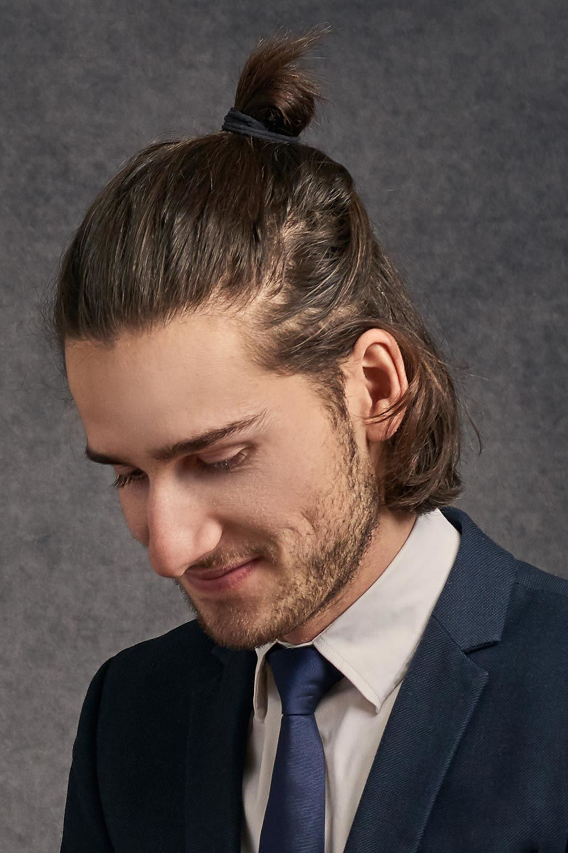 Half Up Man Bun Hairstyle #menshair #menshairstyles #longhairmen #menbun