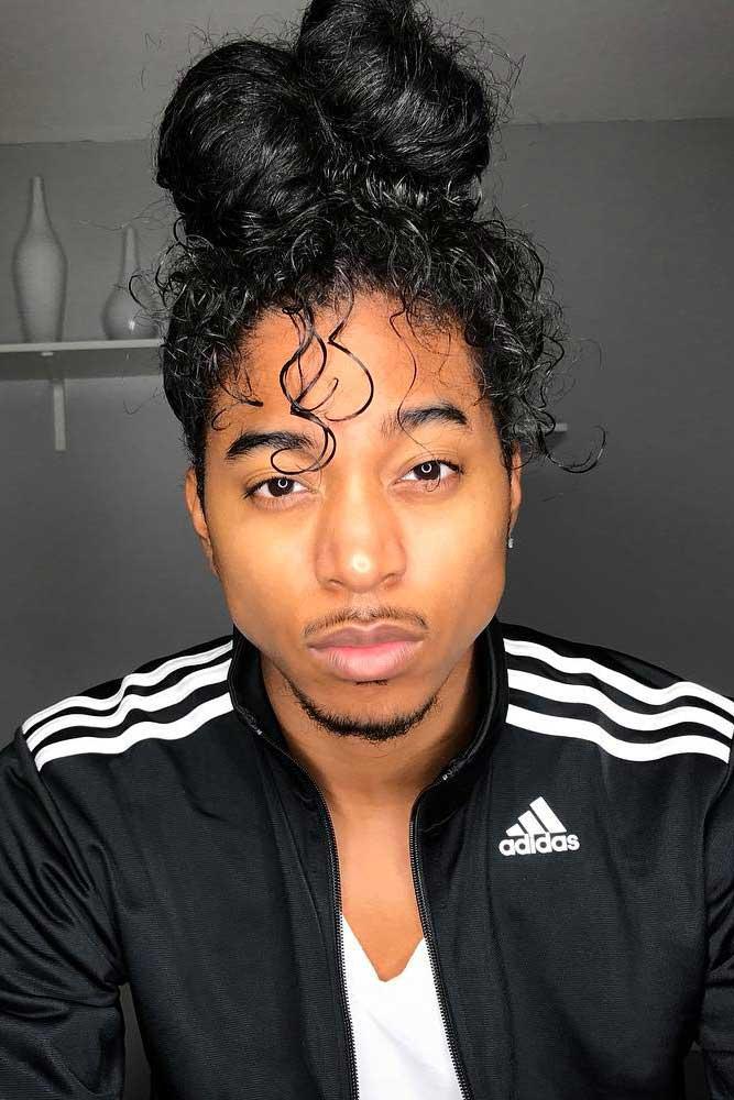 How To Get Man Bun #manbun #afrohair #curlyhair #blackhair