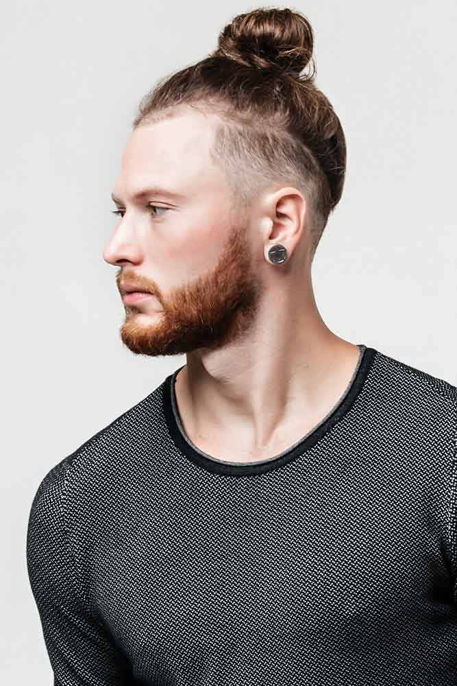 High Bun With Undercut #manbun