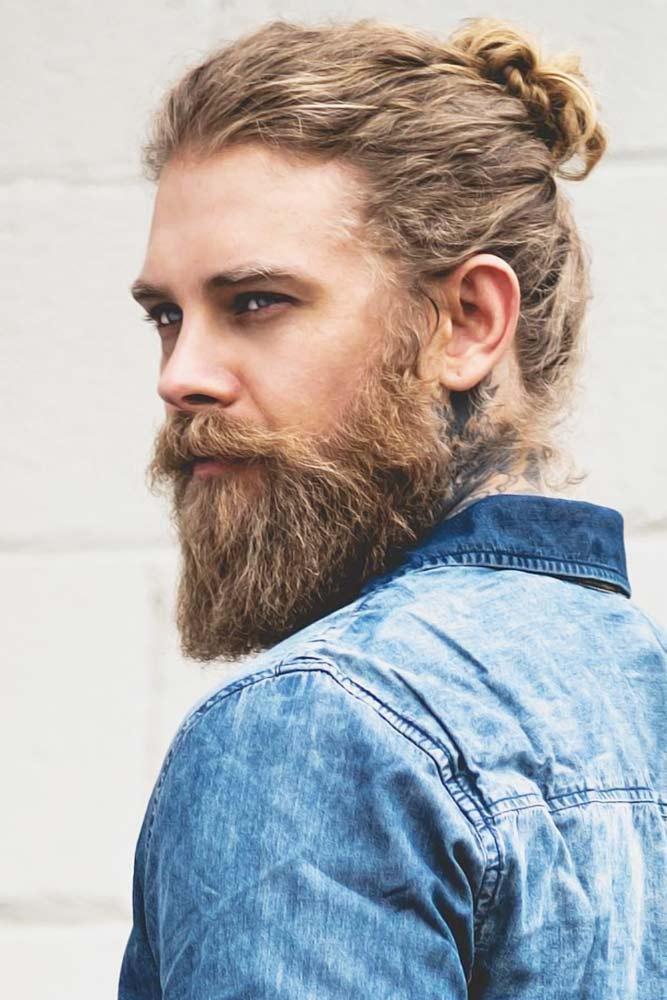 Messy Bun With Long Beard #manbun #buns