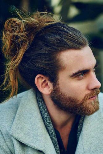 Twisty Top Bun #manbun #messybun #menupdo