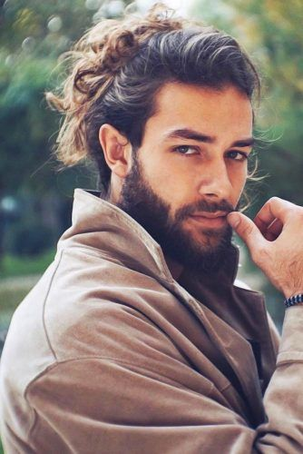 Messy Bun With Side Styling Front Locks #manbun #buns