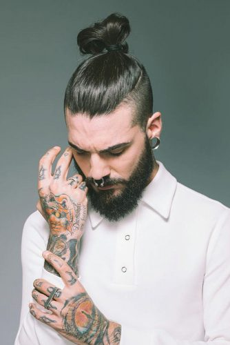 Sleek And High Knot #manbun #topknot #manupdo