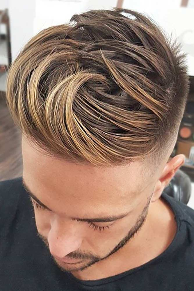 Spiky Hair With Blonde Accents #blondehairmen #spikyhair #spikedhair