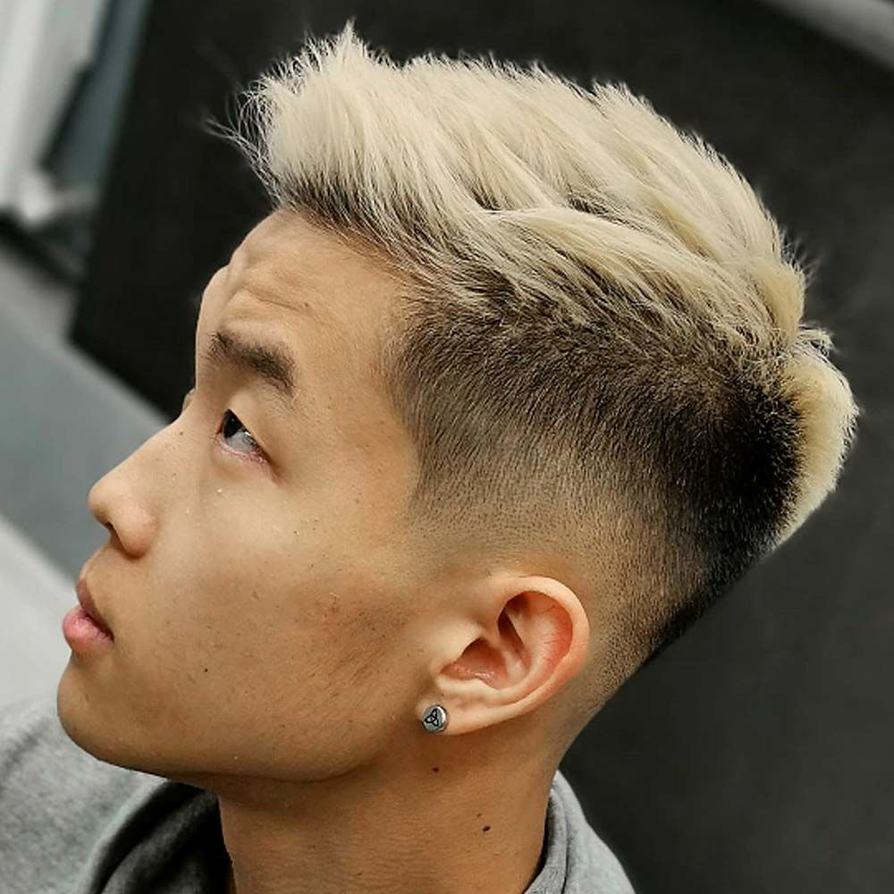 Spiky Hair With Blonde Accents