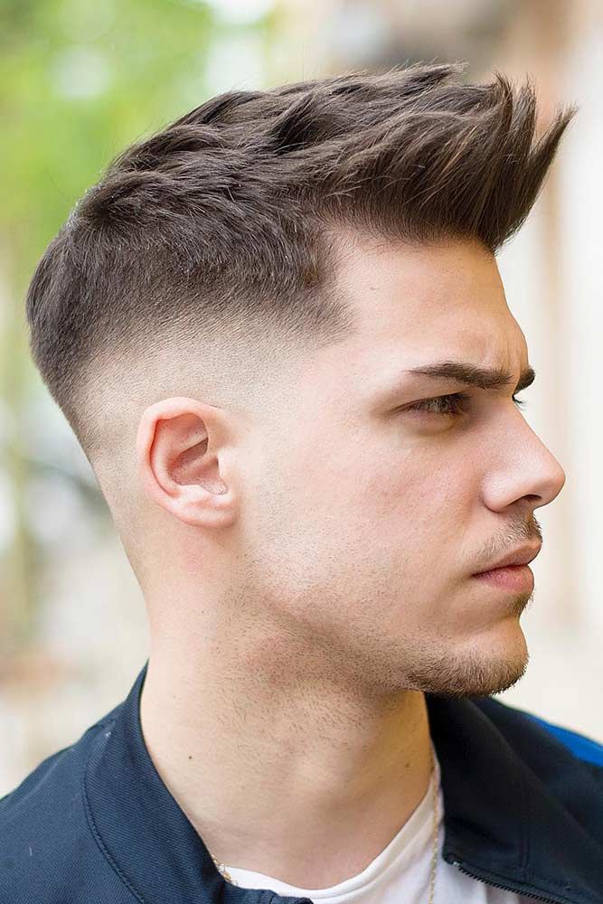 Spiky Hair With Fade #spikyhair #spikedhair #fadehaircut