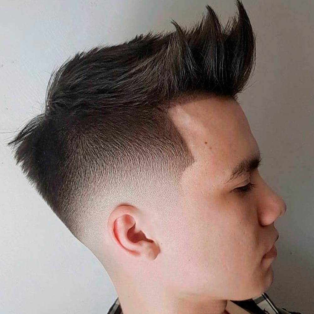 Faux Hawk Spiky Hair With Undercut