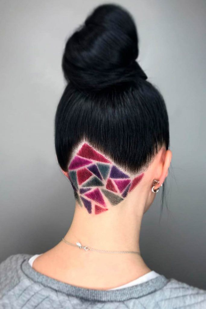 Edgy Triangular Nape Design