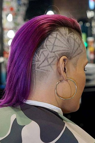 Diamonds Undercut Design #undercutdesigns #haircuts #mediumhair
